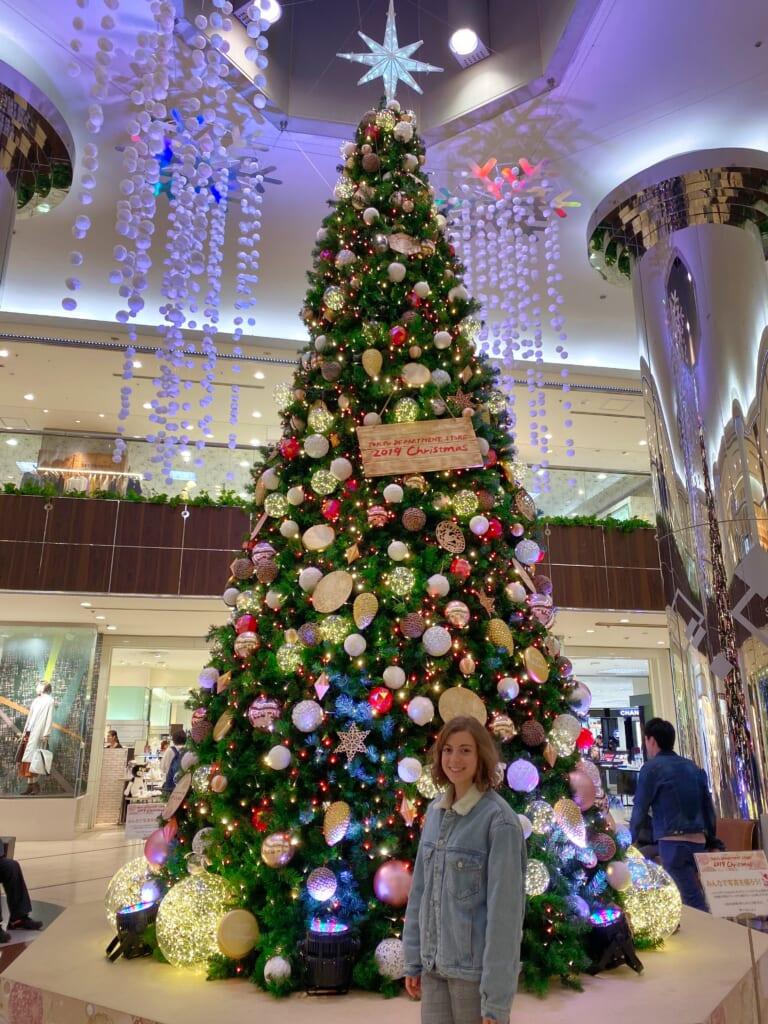 Arbol de Navidad en un centro comercial de Japón
