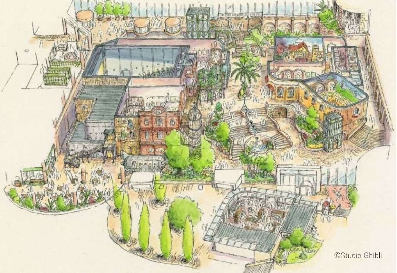 Arte conceptual de Big Ghibli Storehouse Area