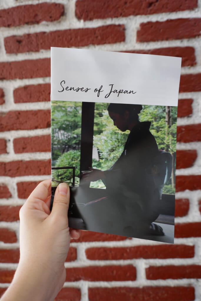 El panfleto con toda la información de los productos japoneses