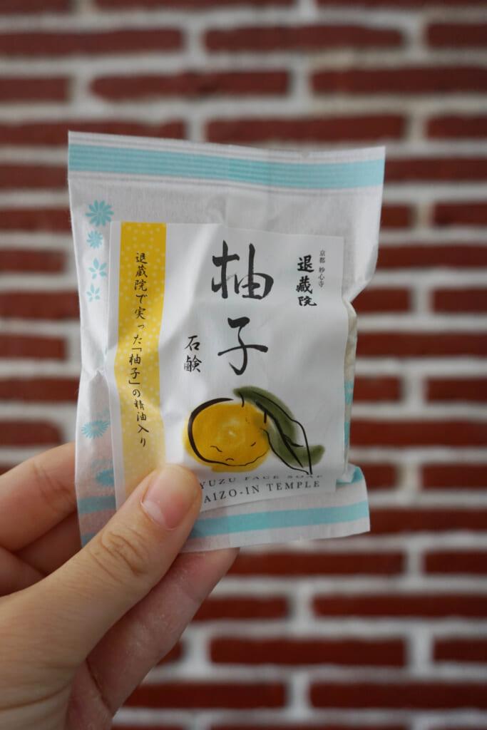 El jabón de yuzu, uno de los productos japoneses de la caja