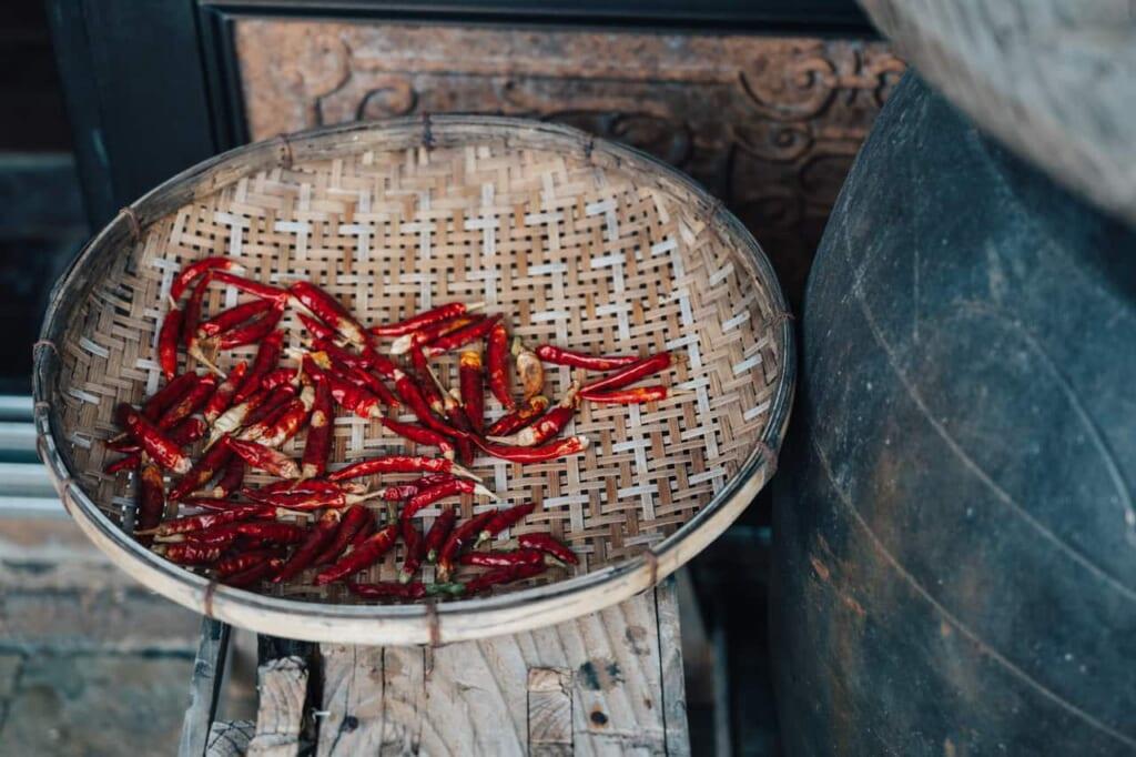 Comida tradicional en la kominka