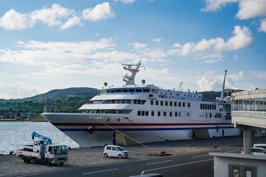 el ferry para ir hasta la isla de Ojika a solas