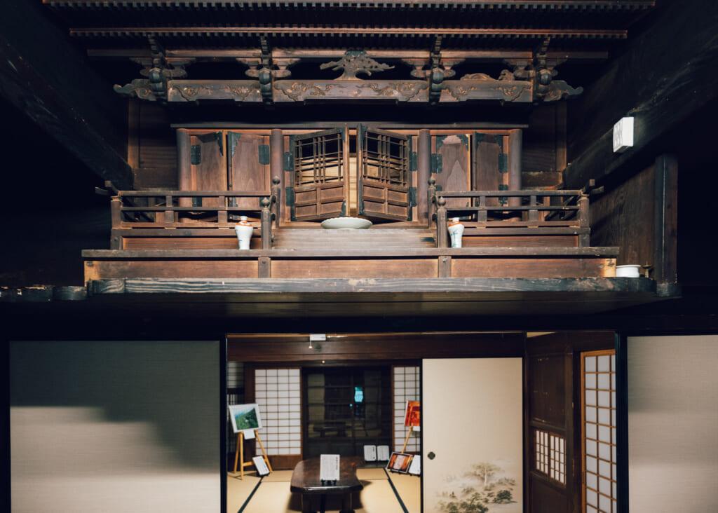 El interior de como era una casa en Nozaki
