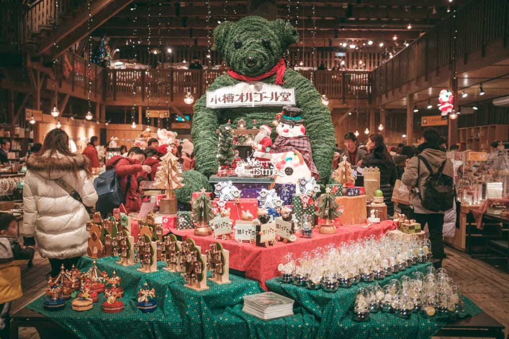 Tienda de Navidad en Hokkaido