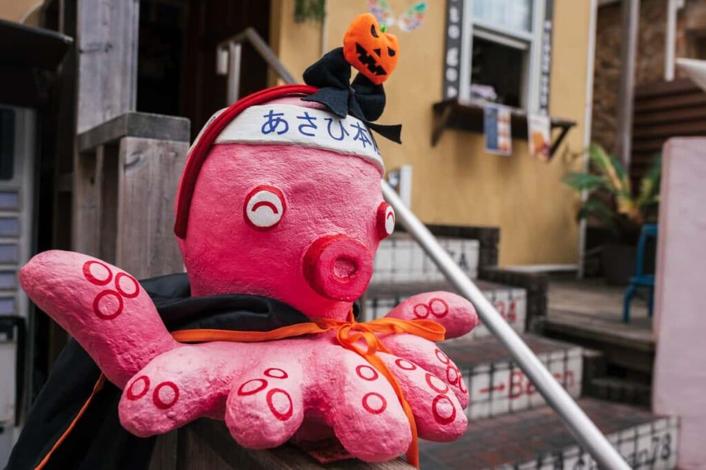 Decoración de un pulpo en Subana Street