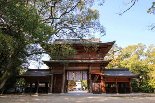 Las puertas del Santuario Oyamazumi