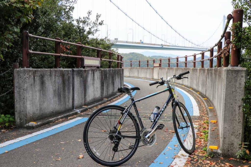 Mi bicicleta acompañante y uno de los puentes durante la ruta
