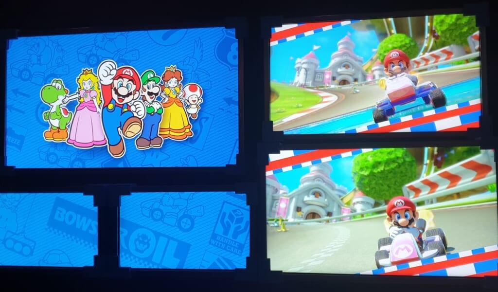 Pantallas de la atracción Mario Kart en Super Nintendo World