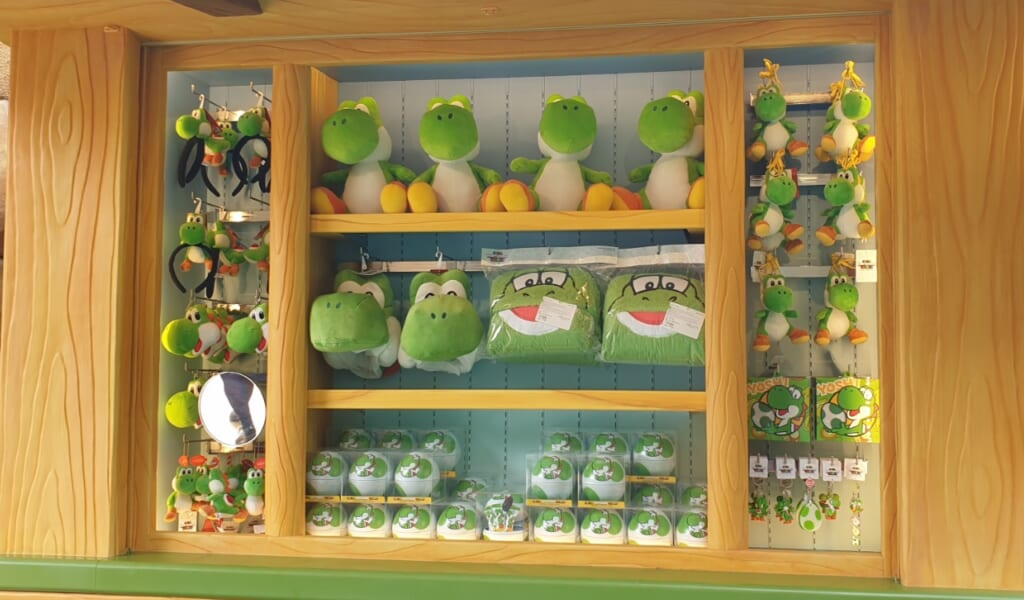 Productos tematizados de Yoshi en Super Nintendo World