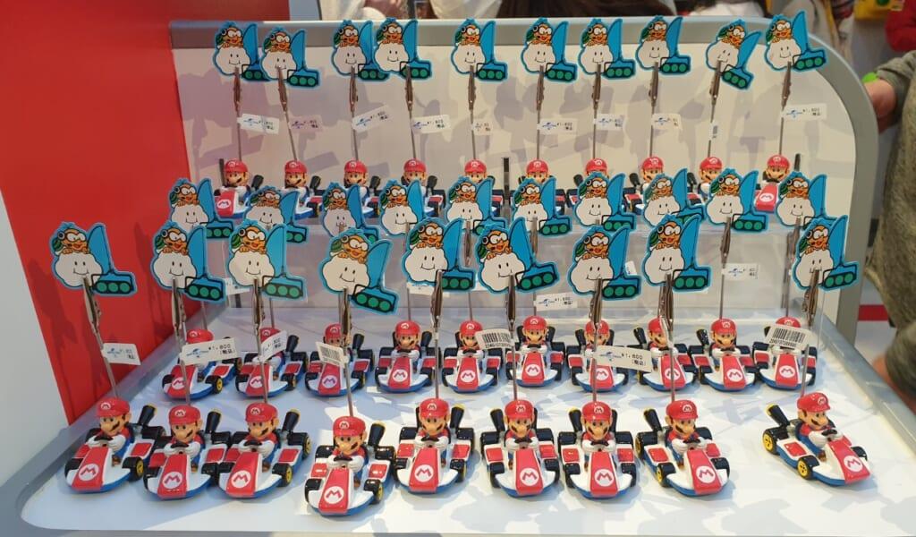 Productos de Mario Kart en la tienda de Super Nintendo World