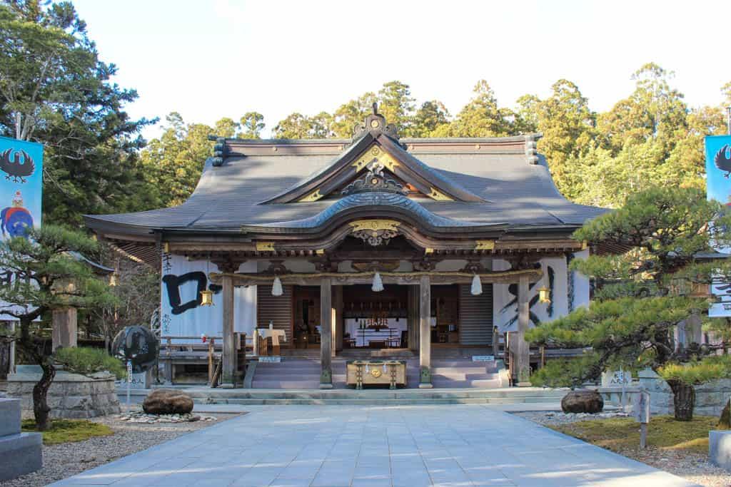 Uno de los edificios del gran santuario de Kumano Hongu Taisha