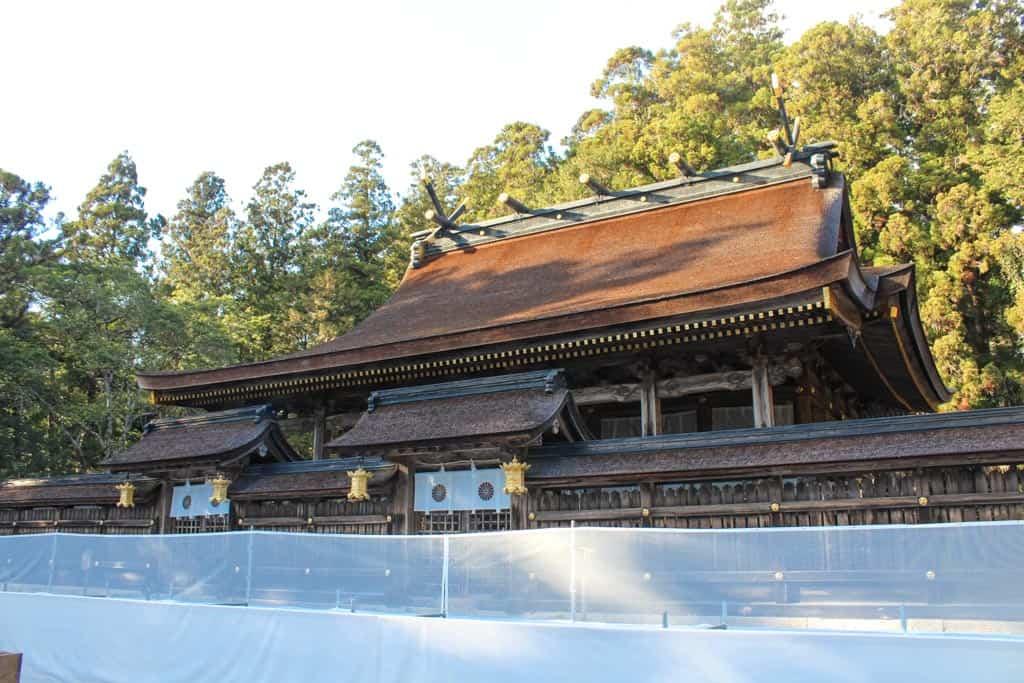 Uno de los edificios principales del Kumano Hongu Taisha, en Wakayama, Japón
