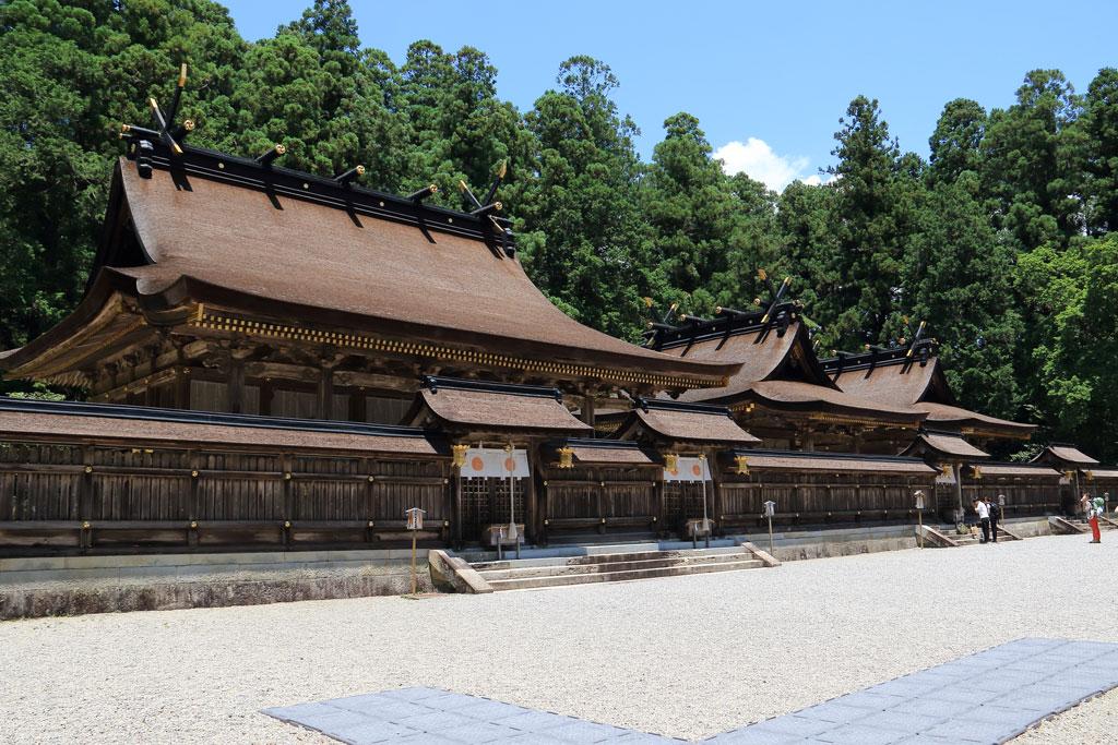 Los edificios principales del Kumano Hongu Taisha
