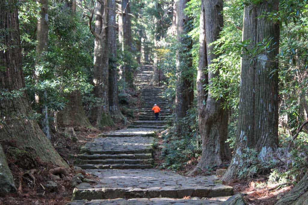 El acceso al gran santuario de Kumani Nachi Taisha a través de la pendiente Daimon-zaka