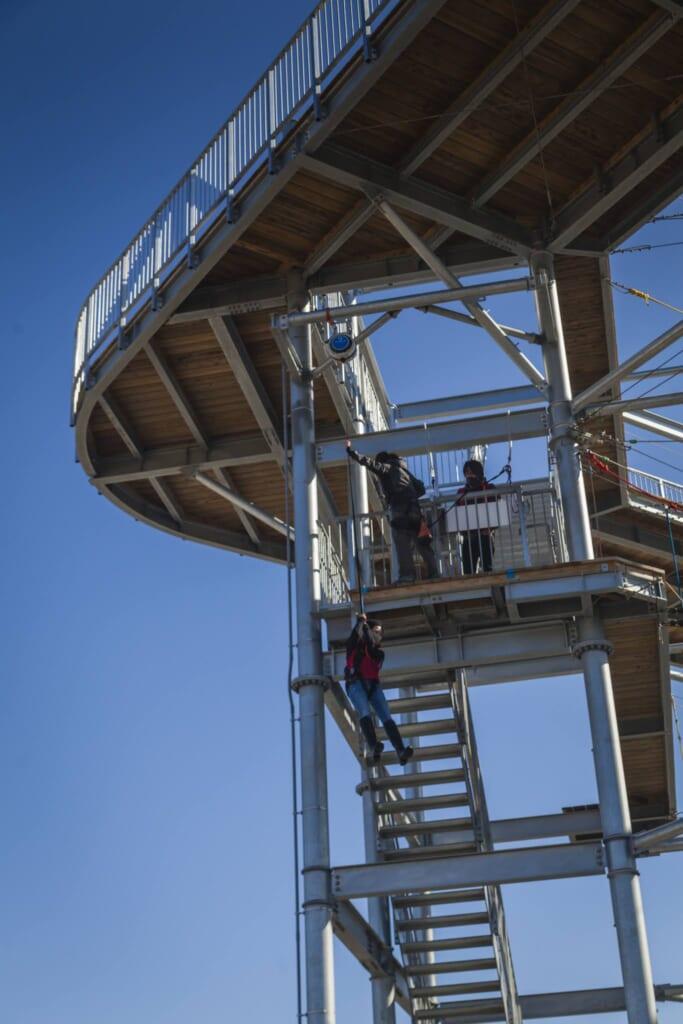Un mirador en el Sennan Long Park, un lugar que se puede visitar con el Hokuriku Arch Pass