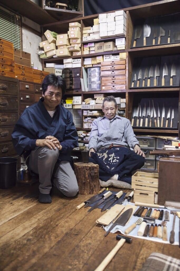 Takashi Wada y Aizo Wada de la experiencia de Sakai Knife.