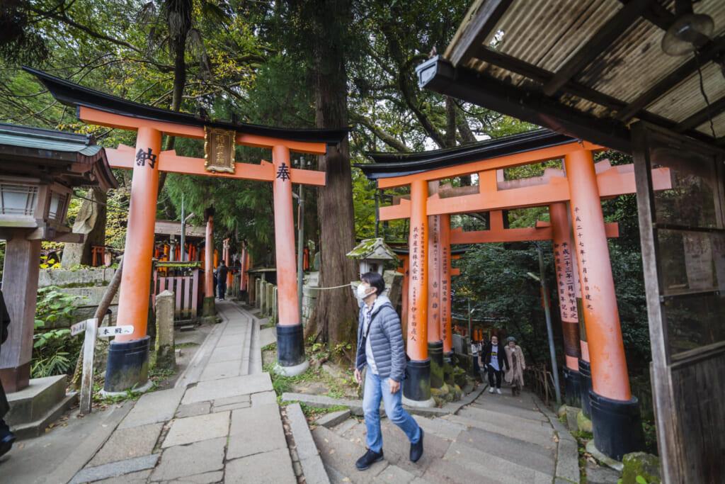 dos caminos en fushimi inari