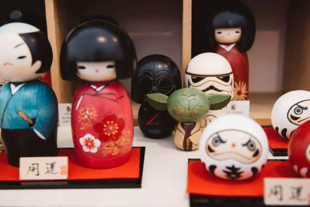 detalle de kokeshi de star wars