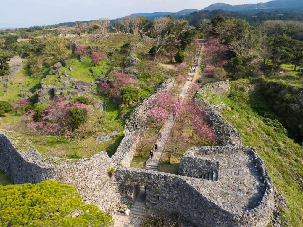 El castillo Nakijin en Okinawa