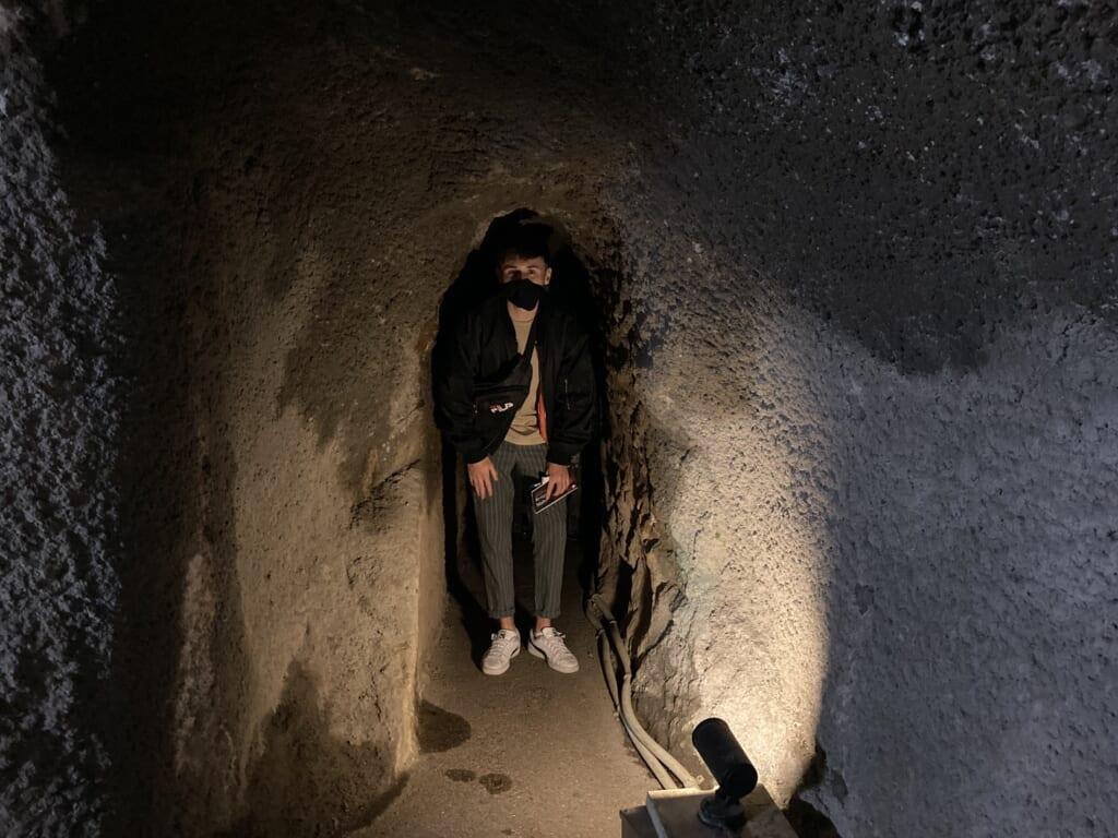Dentro de las minas de plata de Omori, Shimane