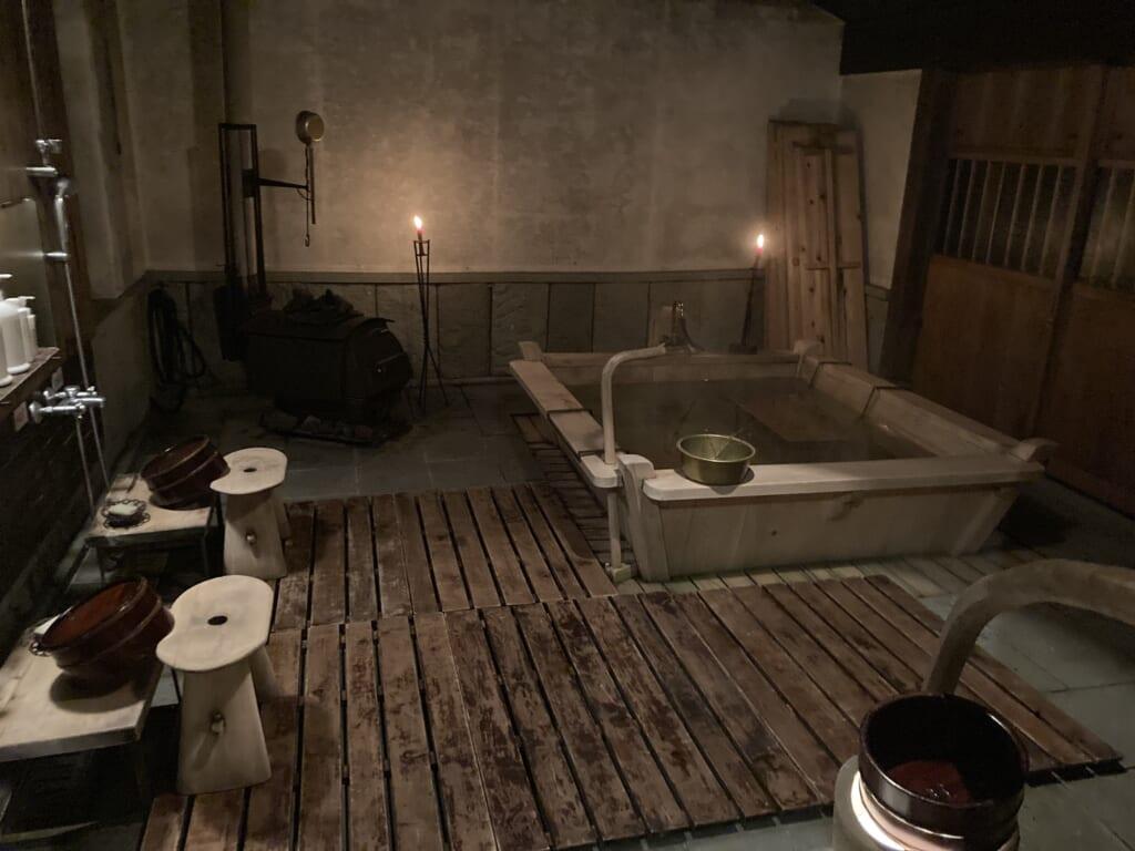 El baño del ryokan en Omori