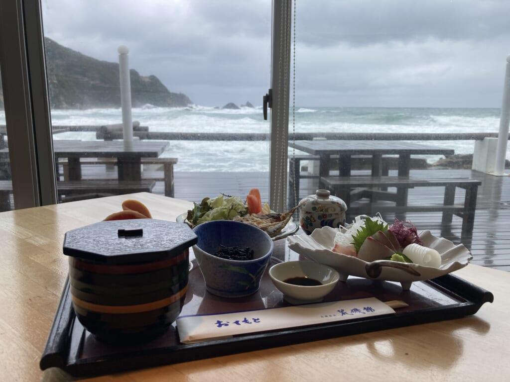 Comida en el ryokan Araisokan Onsen de Shimane