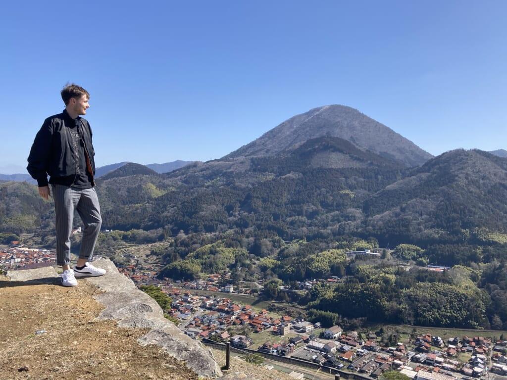 Mirador del balle desde el castillo de Tsuwano