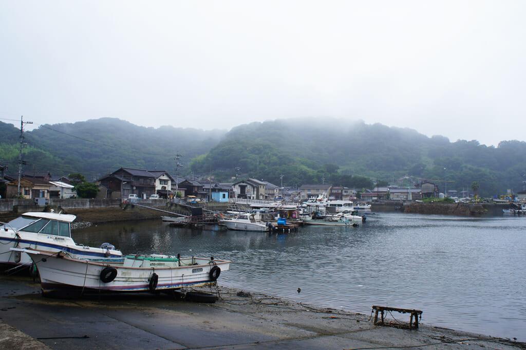 Puerto de Honmura en Manabeshima