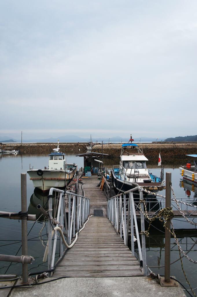 Muelle del puerto de Honmura