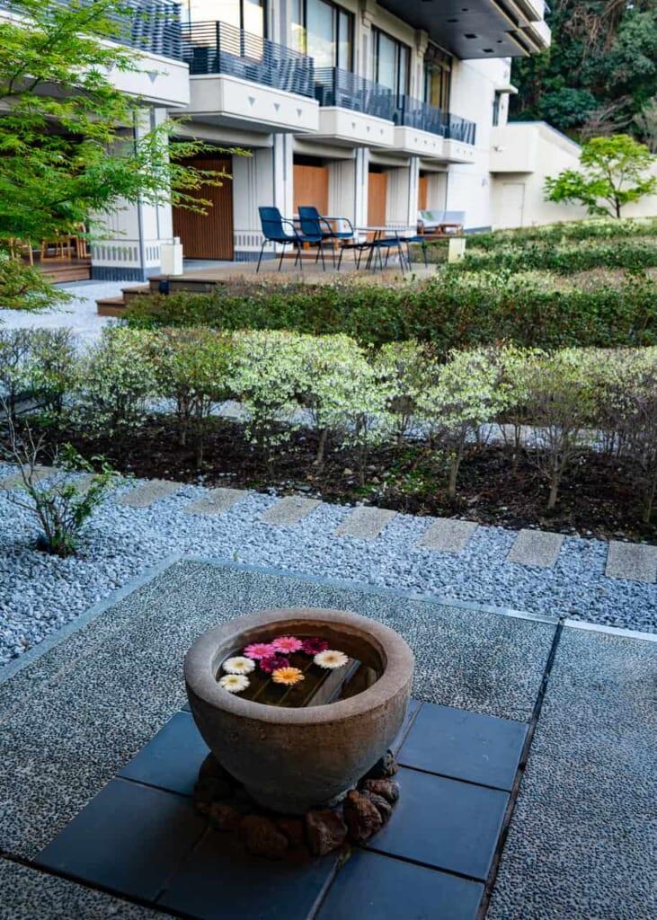El jardín del té en el hotel de Hamamatsu
