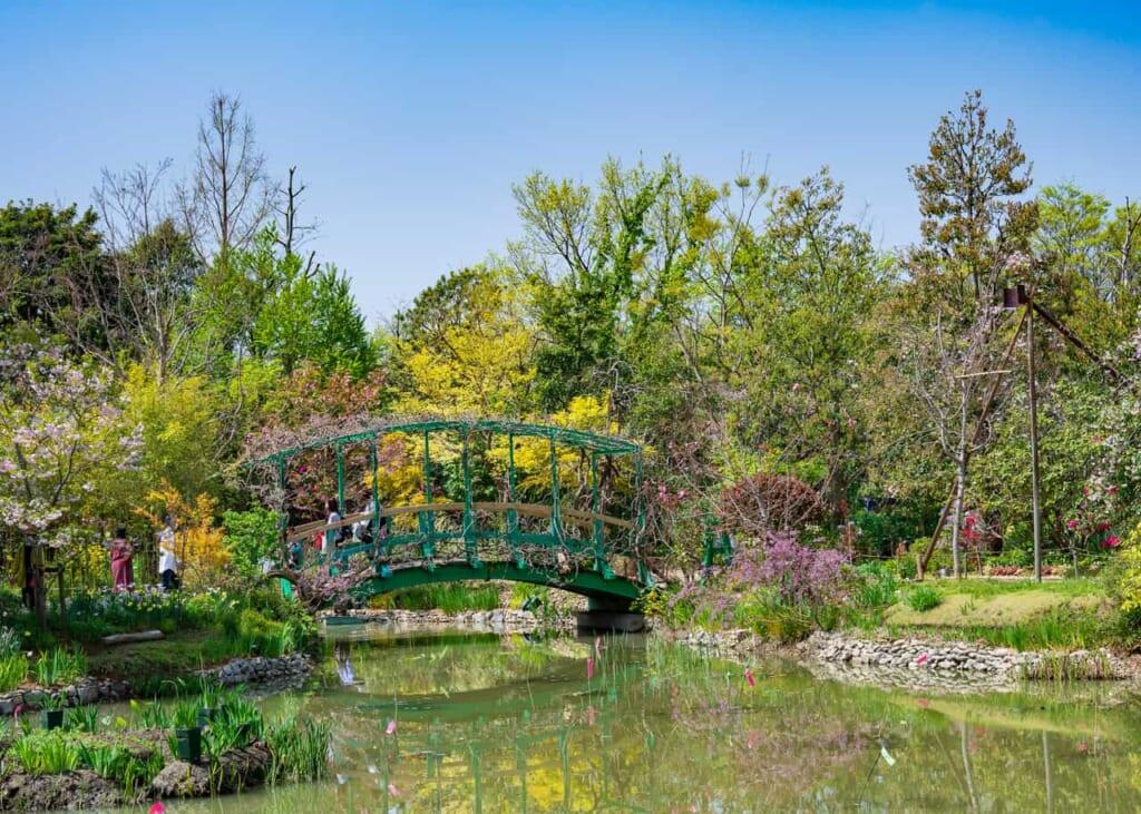 El jardín que recuerda a un cuadro de Monnet en Hamamatsu