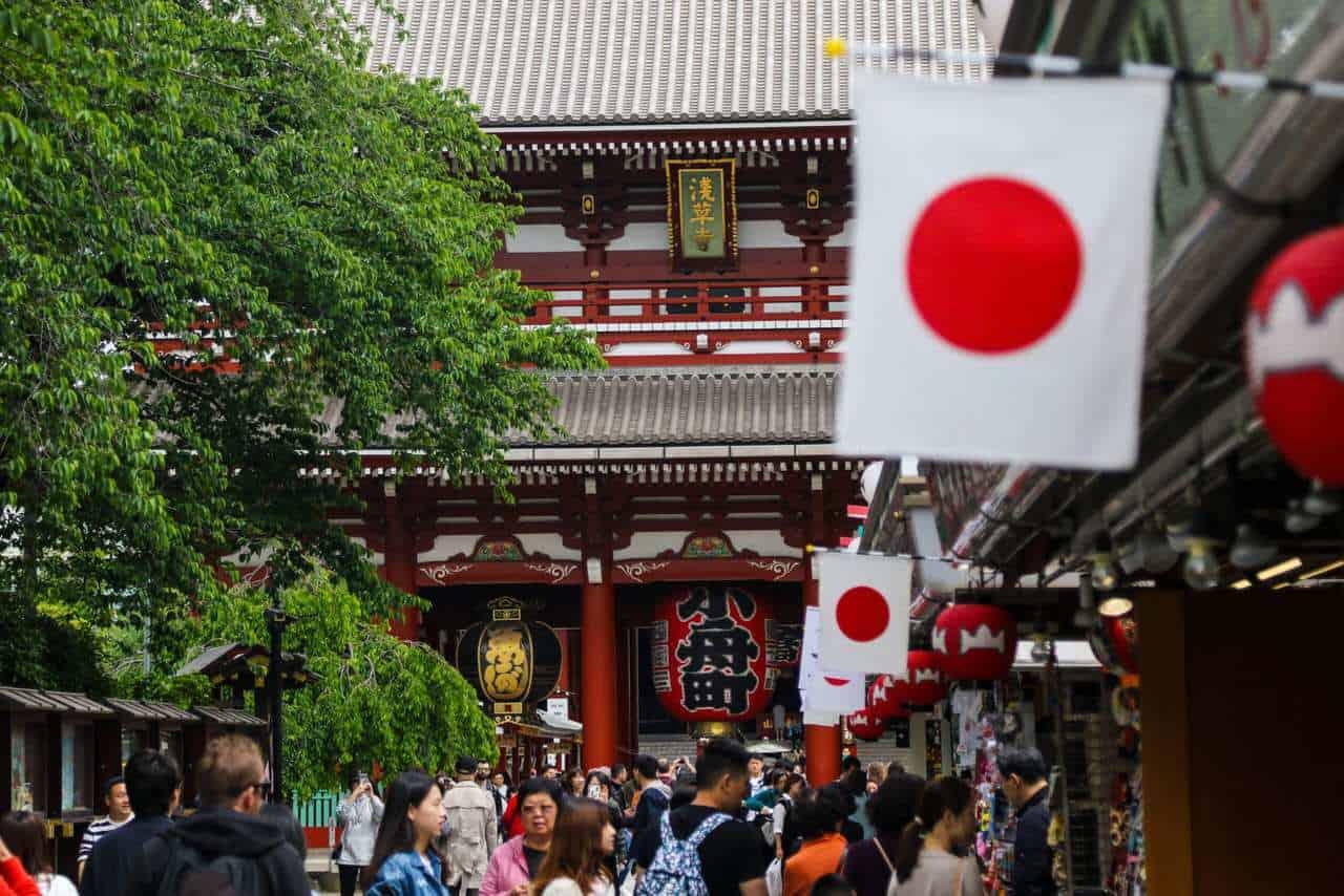 Historia de la bandera japonesa