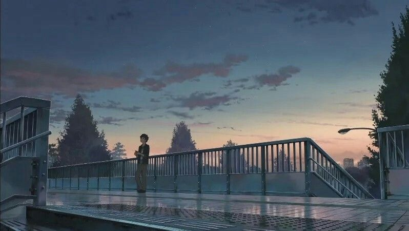 Escena de Your Name en Shinanomachi