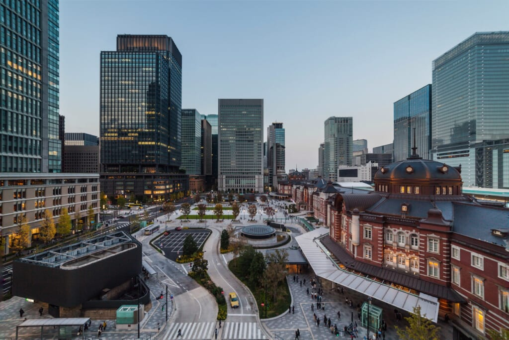 Fachada Marunouchi de Estación de Tokio