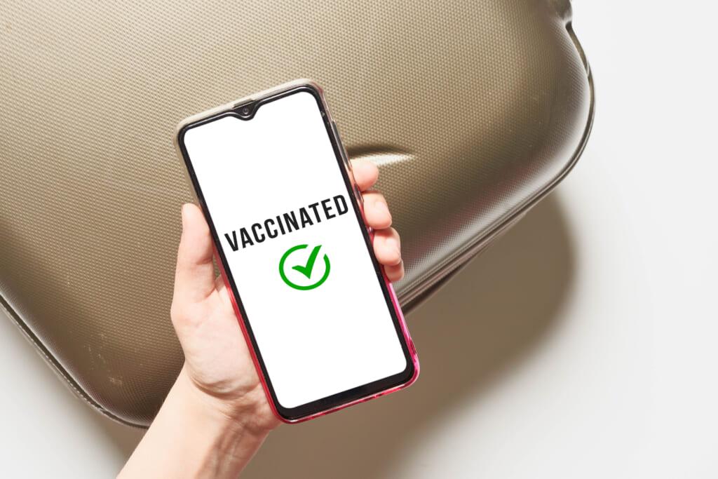 Confirmación de vacunación en teléfono móvil