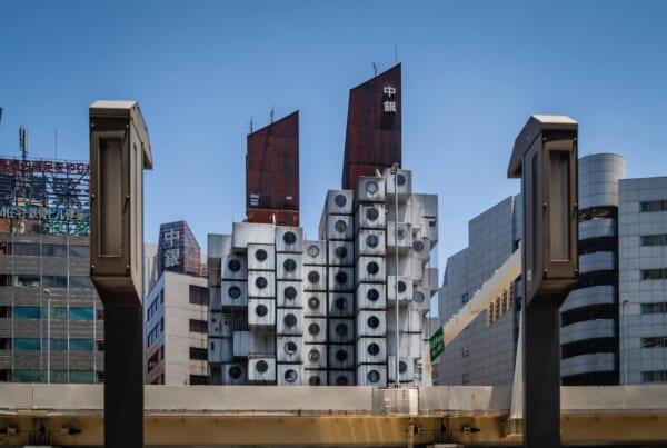 El edificio Nakagin Capsule Tower en Tokio