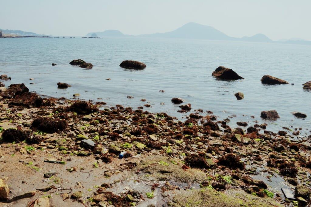 Playa de Matsuyama en Shikoku