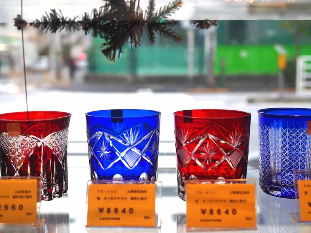 Un vaso de Edo-Kiriko puede costar más de sesenta euros.