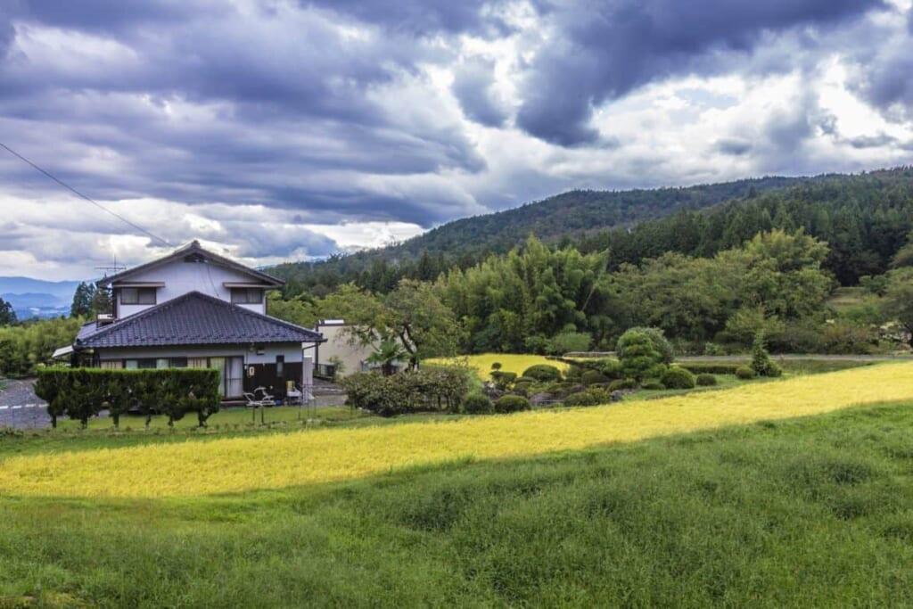 Las zonas rurales de Japón adyacientes a la ruta nakasendo