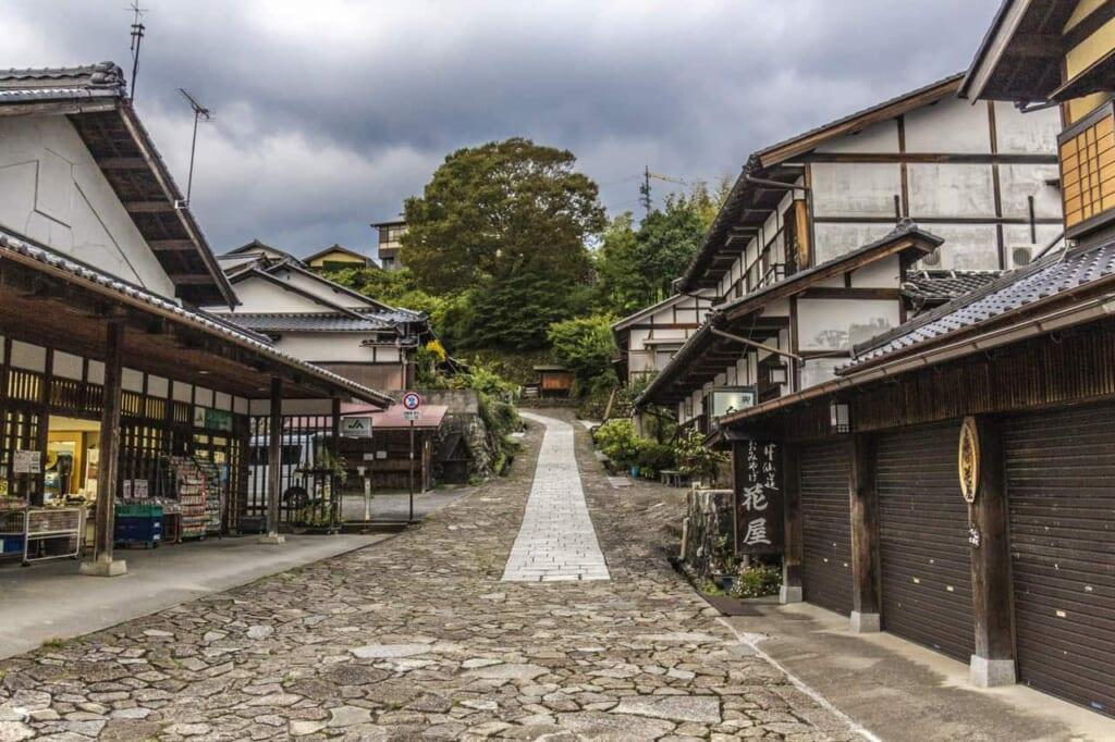 Parte de la ruta Nakasendo en Japón