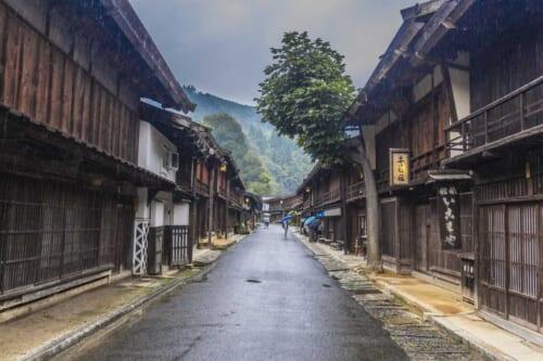 El punto culminante del viaje: el área de descanso de Tsumago