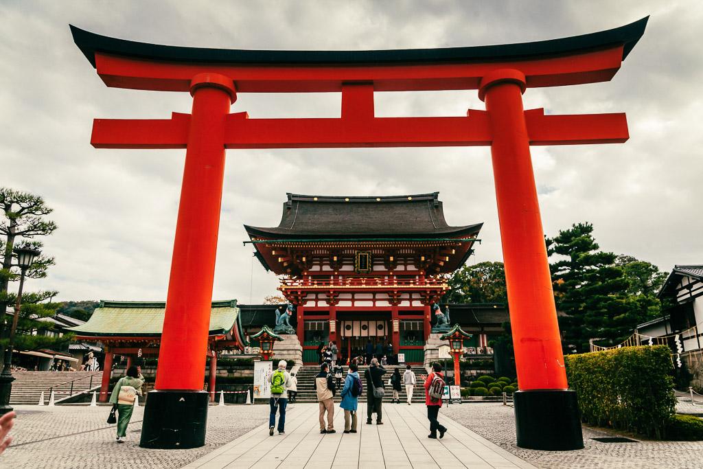 Puerta Romon en Fushimi Inari Taisha