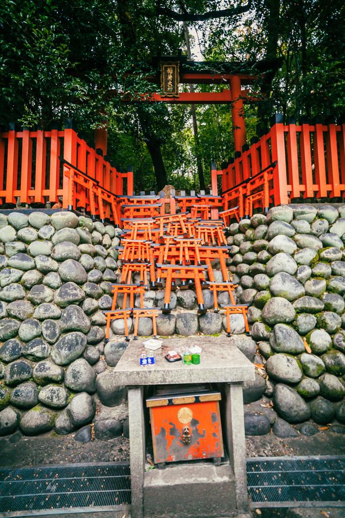 Pequeñas puertas en ofrenda a Inari