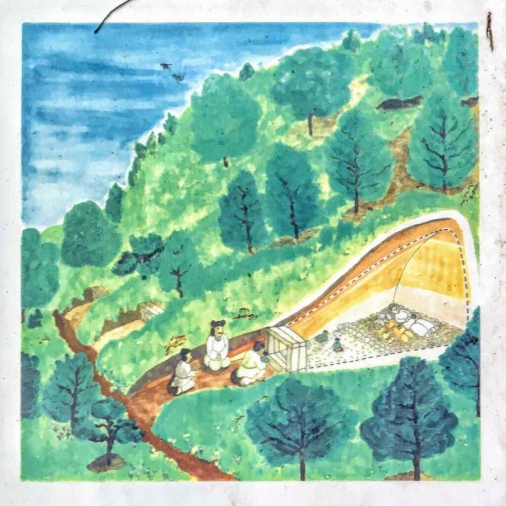 ilustracion de tumba de tunel