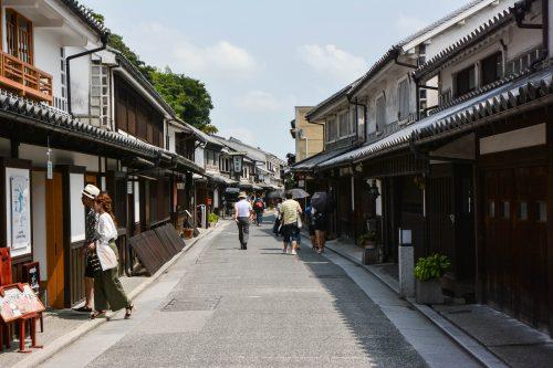 Die historischen Straßen des Bikan Viertels.