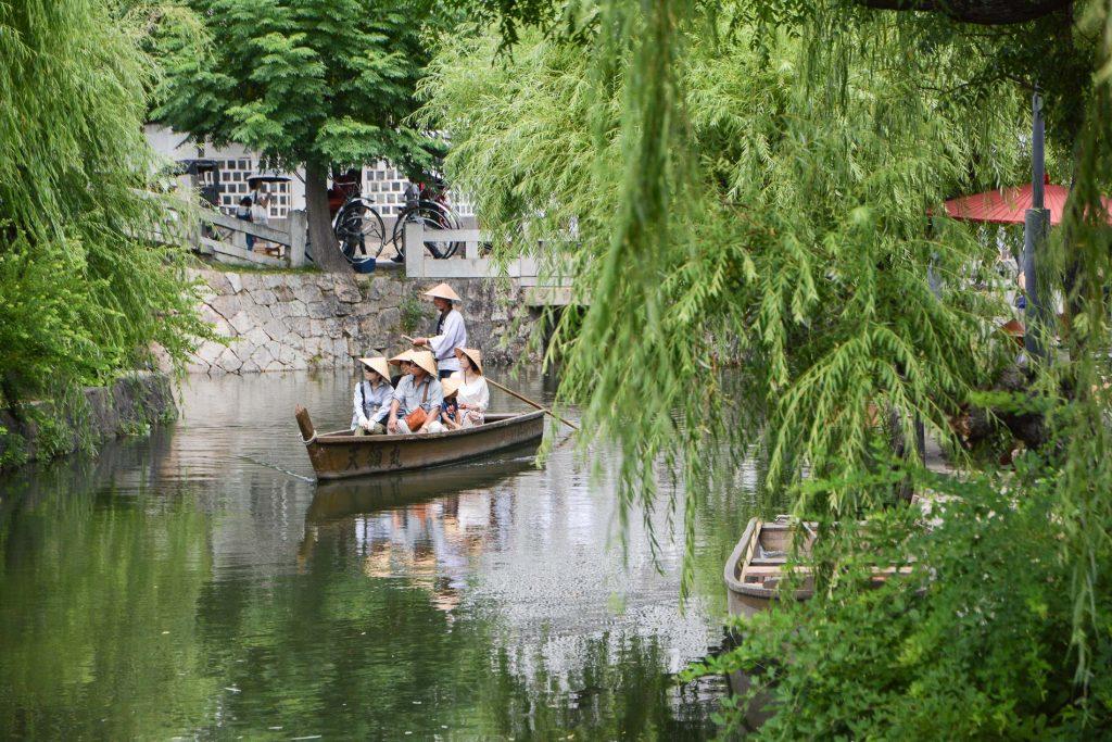 Eine Bootstour durch Bikan in Kurashiki.
