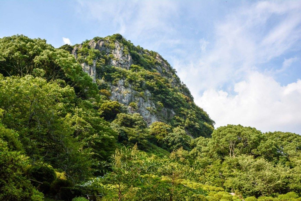 Mifuneyama-rakuen Garten am Takeo Onsen, Saga, Japan