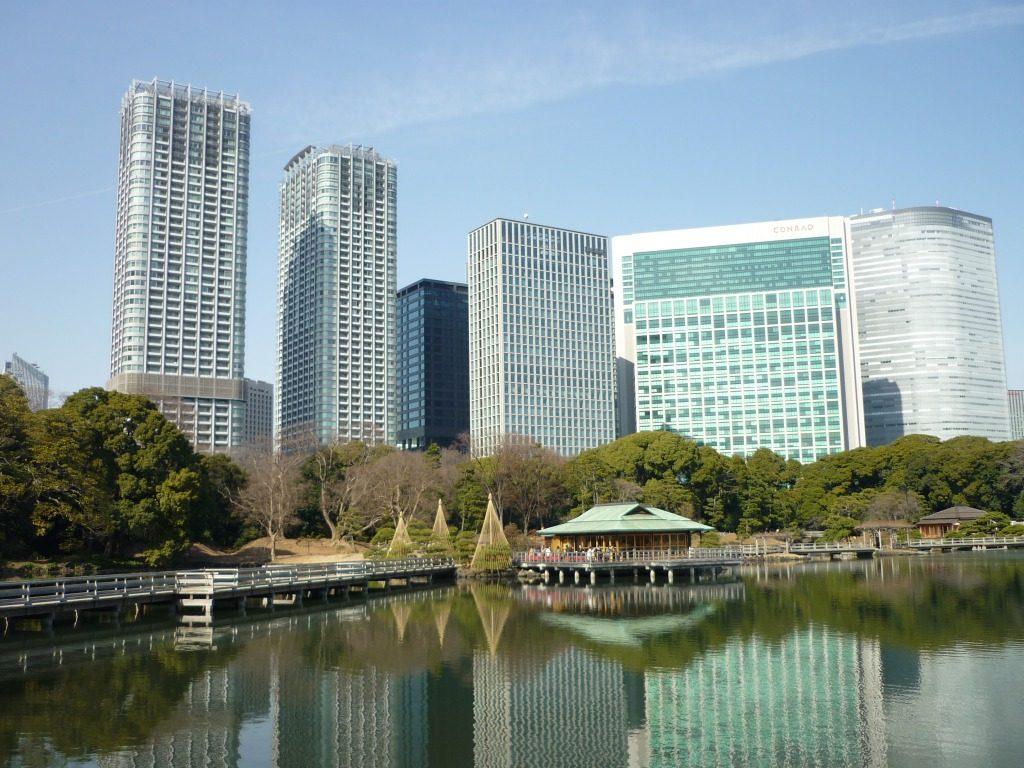 Der Hamarikyu-Garten, Tokyo,