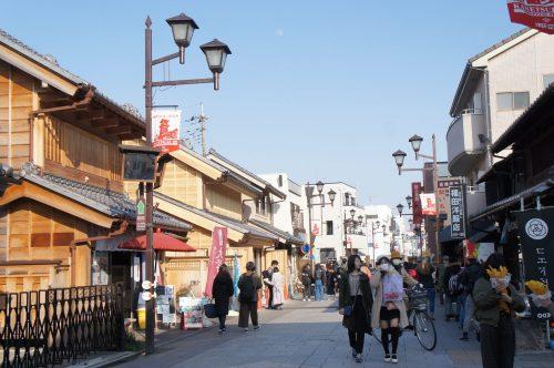 Schöne Straße in Kawagoe