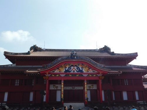 Das Hauptgebäude der Burg Shuri.